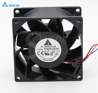 Free Shipping Original Delta FFB0812EHE 8038 12V 1 35A Need Double Ball Bearing Fan Support Gun