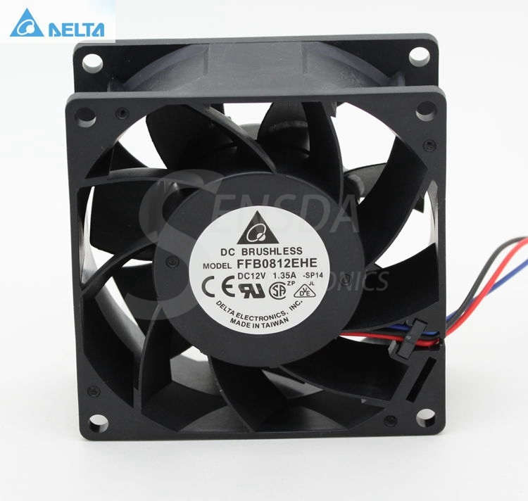 Delta FFB0812EHE 8CM 80MM 80*80*38MM 8038 12V 1.35A double ball bearing cooling fan original delta afb0912shf 9032 9cm 12v 0 90a dual ball bearing cooling fan