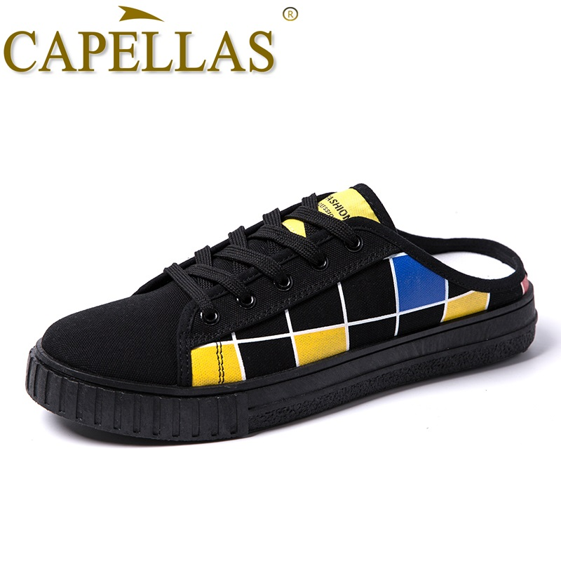 CAPELLAS Sommer Mænd Canvas Sko Zapatos Hombre Fashion Retro Style - Mænds sko