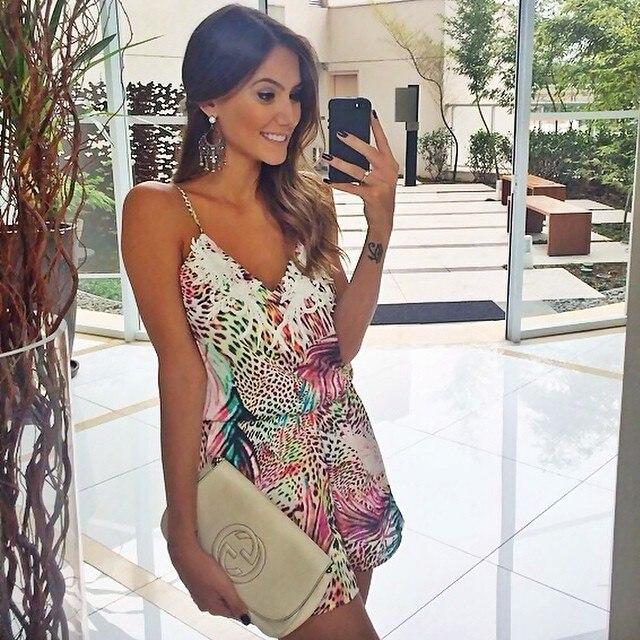 f812c662990 Women s Summer Short Dress Evening Leopard Printed Boho Party Beach Tropical  Sundress Dresses Vestidos Plus Size