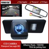FUWAYDA Kleur CCD chip Auto Achteruitkijk Camerafor Mercedes Benz Vito/Benz Viano 2004-2014 jaar met 4.3 Inch Achteruitkijkspiegel Monitor