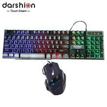 Russian Rainbow font b Keyboard b font Mouse Combo Colorful Backlit font b Gaming b font