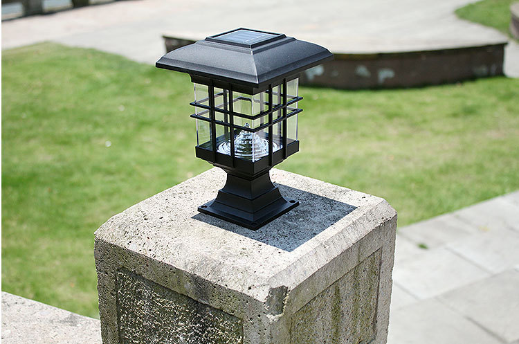Solar Post Cap Lamp Led Solar Lantern Green Housing Solar Lamp Garden Led  Solar Light Outdoor.