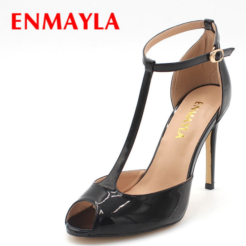 ENAMYLA Summer Peep Toe Stiletto Ladies Sandals Women High Heels Wedding Party Shoes Woman Cover Heels Sandals Nude Pumps cdts 35 45 46 summer zapatos mujer peep toe sandals 15cm thin high heels flowers crystal platform sexy woman shoes wedding pumps