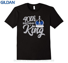 GILDAN Mens 100% Cotton Plus Size 40th Birthday King T Shirt Celebration Party Forty