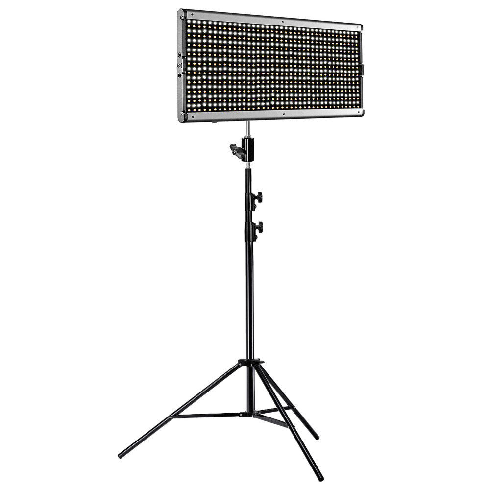 Neewer Dimmable Bi-color 960 LED Video Light and Stand Lighting Kit LED Panel Frame for Studio YouTube Outdoor Video Photography