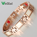 Wollet Fashion Jewelry Women Hot New Germanium 4 in 1 Ions Magnetic Stainless Steel Bracelet For Femme