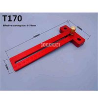 New T 170 Aluminium Alloy Marking Rule Woodworking T shaped Hole Drawing Rule Measuring Tool Marking Device 0 170mm Hot Selling