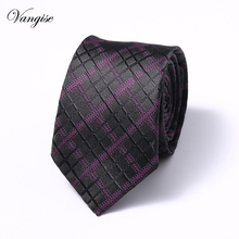 Brand New 6 cm Paisley Jacquard Woven Silk Ties Mens Neck Tie Striped for Men Wedding  Business Party Extra long size