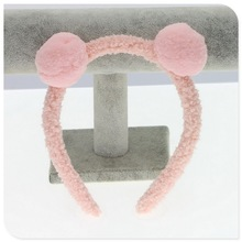 Fur Hair bands With 2 Cute Ball New 2019 hair clips for girls hairband popular Hairbands of hair accessories Skin Color headband hot sale popular lovely hair clips girls hair barrette cute pompom fur ball kids accessories