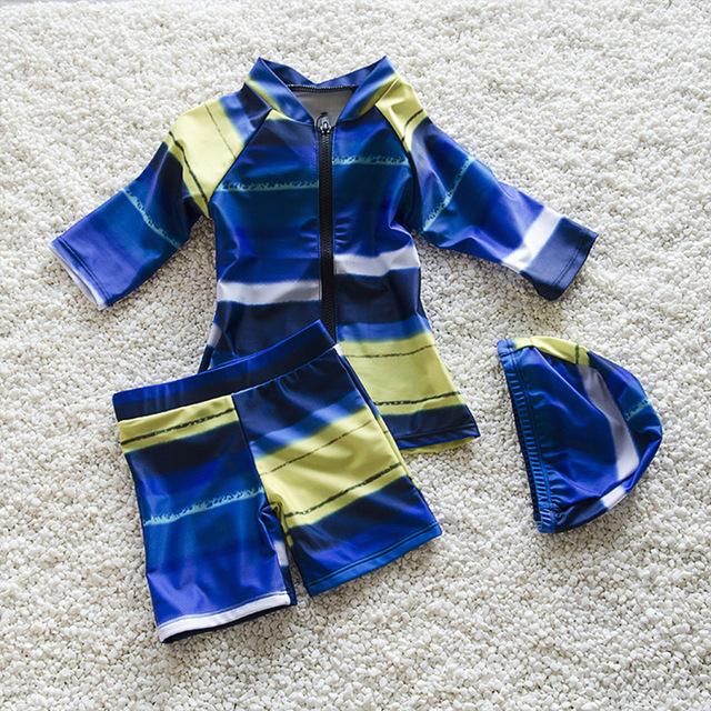 Verano Niños del traje de Baño Maillot de Bain Traje de Baño Para Niños Rash Guards Niños 0-7Y InfantTwo Piezas traje de Baño para Niños