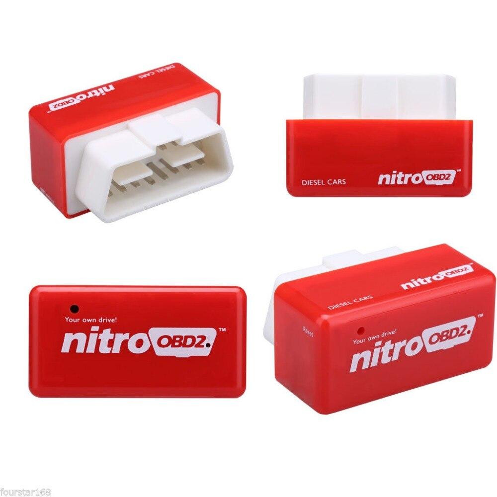 100 шт./лот подключи и Драйв NitroOBD2 чип-тюнинг коробка для дизельных автомобилей нитро OBD2 автомобильные комплекты через DHL Бесплатная