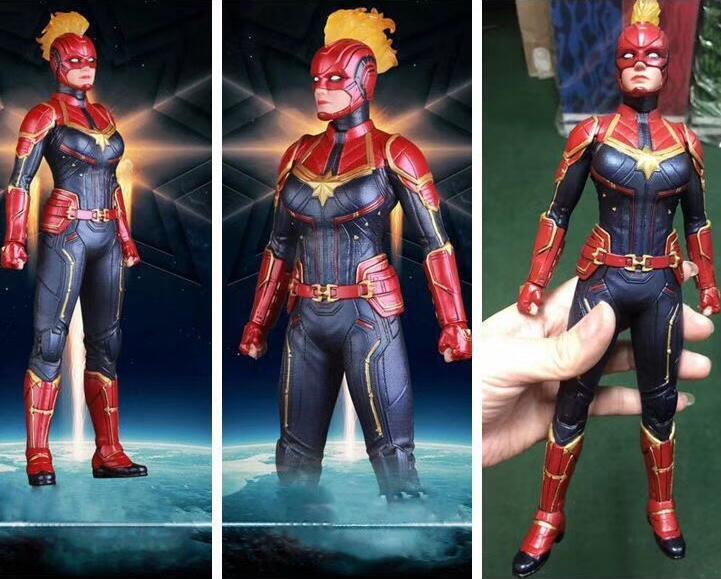 40cm Avengers Endgame capitaine Marvel figurine jouets poupée cadeau de noël avec boîte