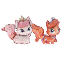 1pcs 37X37cm Mini Cat princess Balloon globos Children's birthday party decoration wedding decoration supplies kids balloons(China)