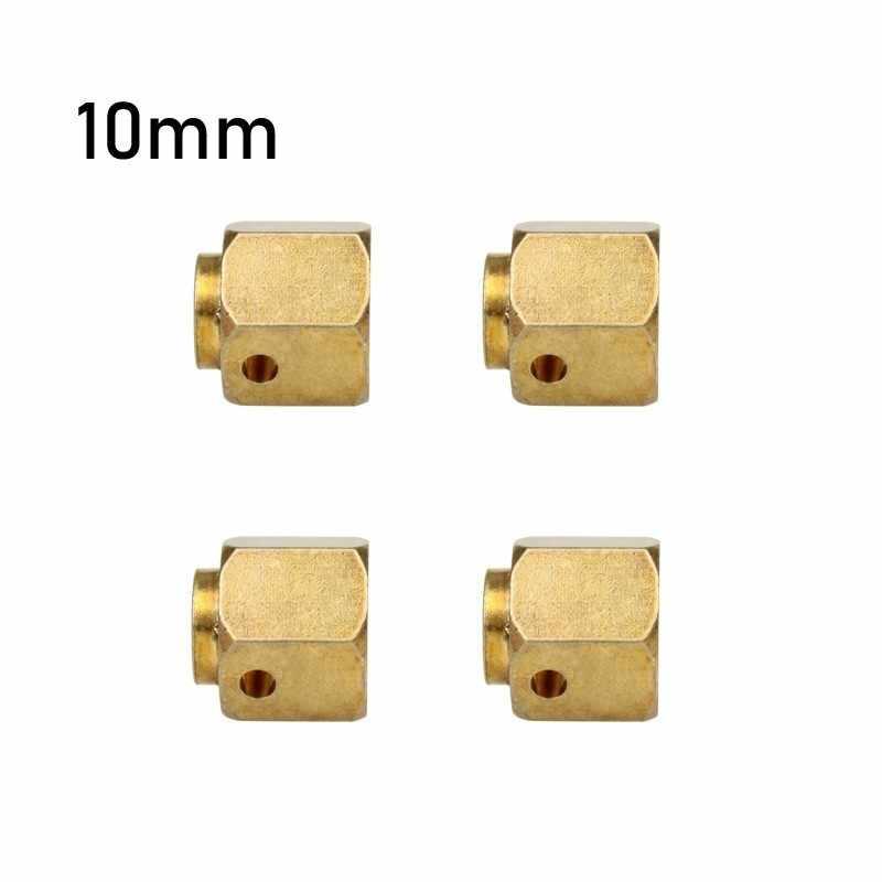 Merepacor 6/8/10 MM latón pesado 12 MM rueda hexagonal adaptador extendido para RC orugas Traxxas TRX4 TRX-4