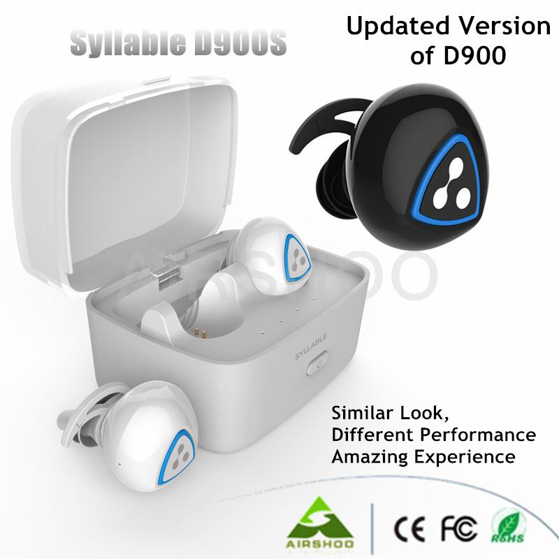 5PCS Original Syllable D900S Bluetooth Stereo Earphone Wireless Music Headset Handsfree Mini Earbud fone de ouvido Auriculares lymoc m3 bluetooth headphone stereo music earphone wireless sport headset handsfree earbuds fone de ouvido auriculares with mic