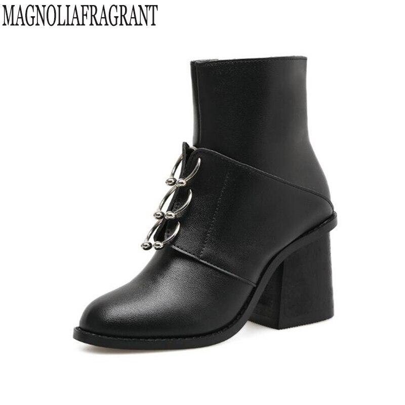 2017 New Fashion sexy women's ankle boots high heels Punk platform Women autumn boots ladies shoes Women's autumn shoes k378
