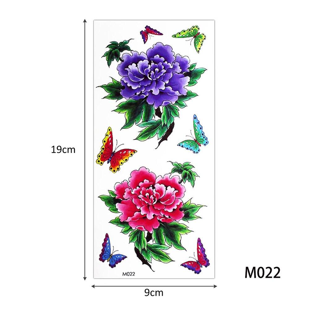 182 Glaryyears 5 Piècesensemble Couleur Dessin Corps Temporaire Tatouage Autocollant Réaliste Rose Fleur Papillon Motif Bras Cou Art Sexy In