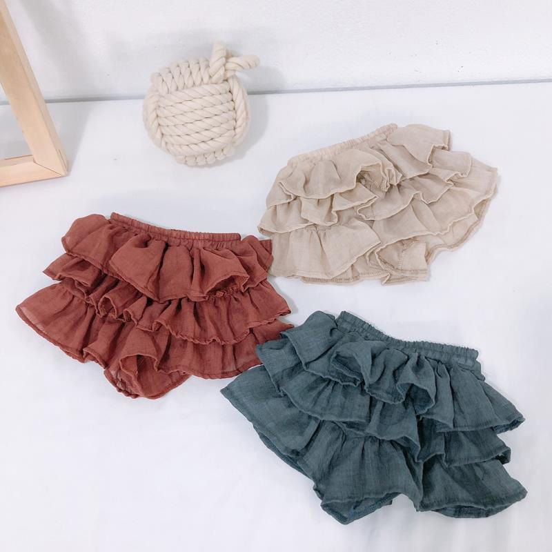 Baby Clothes Summer Girls Short Skirts Cute Children Baby Kids Girls Lovely Mesh Layers Design Elastic Short Skirts