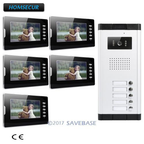 "HOMSECUR 7"" LCD Video&Audio Home Intercom With LCD Color Screen For Secure Home"