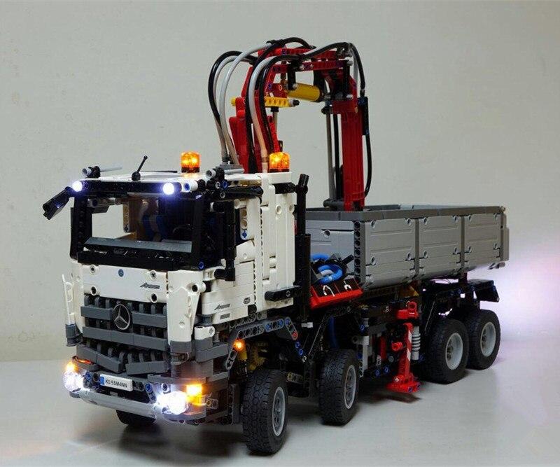 LED leuchten kit (nur licht enthalten) für lego 42043 Kompatibel mit 20005 technik series die Arocs 3245 lkw