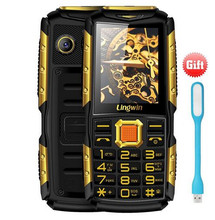 """(Reward!) Lingwin N2 2.four"""" Twin Flash Gentle and Huge Speaker Cell Cellphone 3100mAh Energy Financial institution FM MP4 Out of doors With Russian Keyboard"""