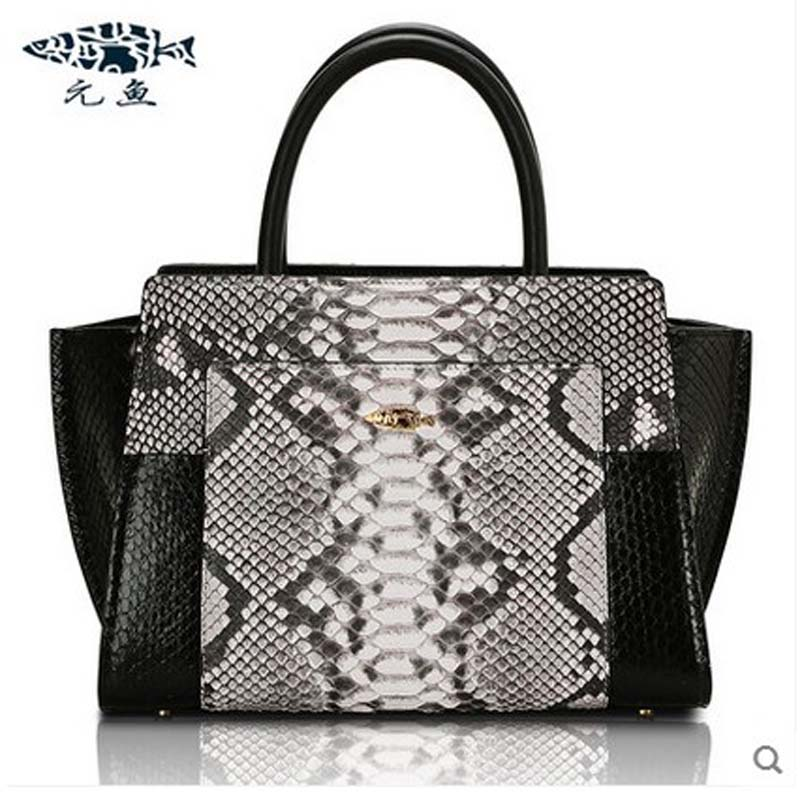 yuanyu 2018 new hot free shipping snake skin female bag women handbag single shoulder bag serpentine large-capacity bag hogfather