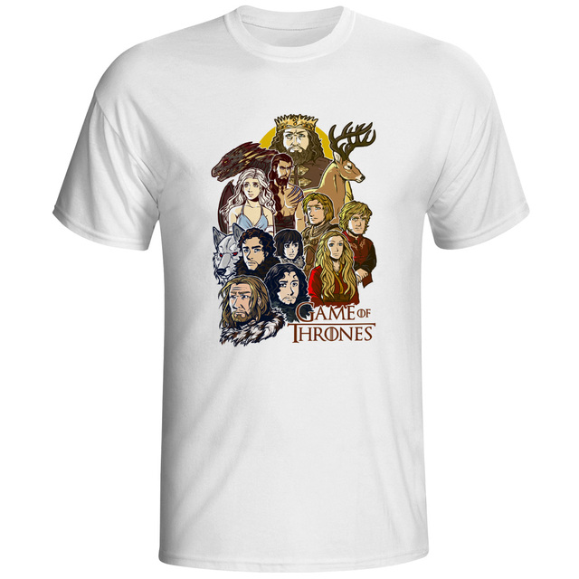 00e05723b7 Funny Game Of Thrones T Shirt Jon Snow Tyrion Mother of Dragons Arya Stark  Drogo Geek T-shirt Seven Kingdoms Top Men Tee Shirts