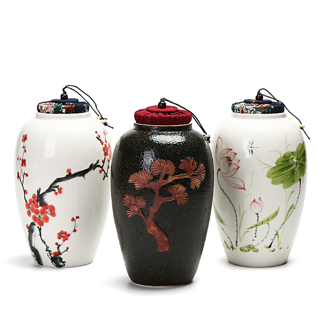 2018 China Vase Storage Bottles High Grade Ceramic Tea Canister Gift