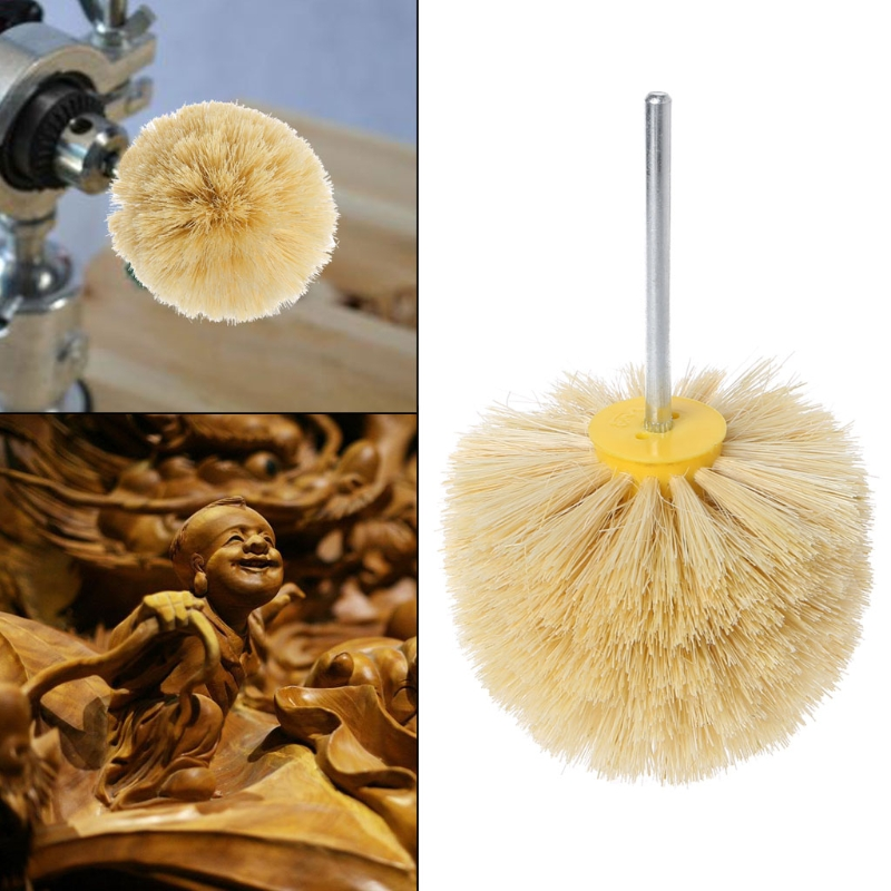 Deburring Horsehair Round Brush Head Polishing Grinding Buffing Wheel Woodworks