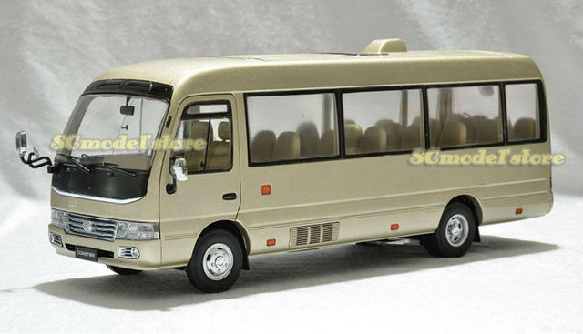 NEW arrivals TOYOTA COASTER 1:24 Die Cast Model ON SALE gold color