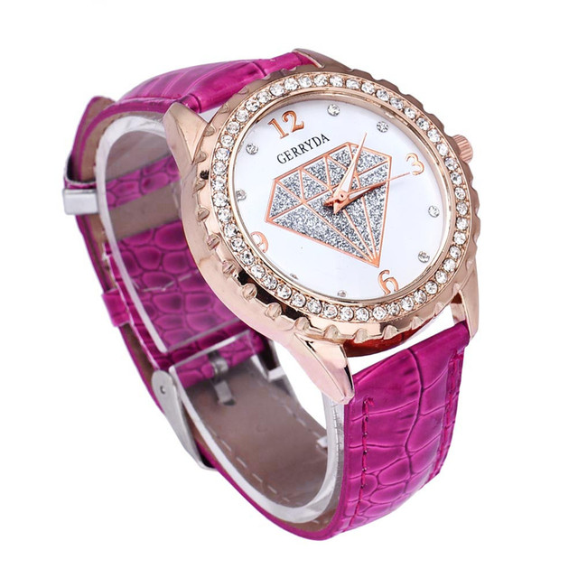 2018hot sale Luxury Crystal Special Pattern Women Contracted Fashion Quartz Watc