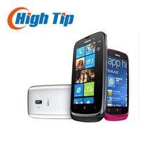 Разблокирована оригинальный nokia lumia 610 windows mobile телефон 8 ГБ хранения камера 5.0mp gps wi-fi 3 г отремонтированы бесплатно shippping с. г. сообщение