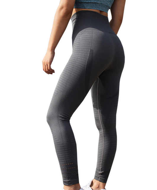 27c29bb13d Women'S Butt Lift Sport Leggings Hollow Out Fitness Gym Leggings Seamless  Slim Compression Squat Tights High Waist Yoga Pants