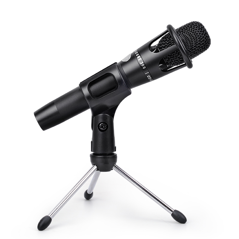 e300 condenser handheld microphone xlr professional large diaphragm mic with stand for computer. Black Bedroom Furniture Sets. Home Design Ideas