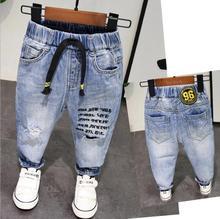993405a8e923c6 Nowa wiosna jesień w stylu Baby Boy dżinsy spodnie 2-6years wiek dzieci  chłopcy Denim Jeans chłopcy spodnie czystej bawełny wyso.
