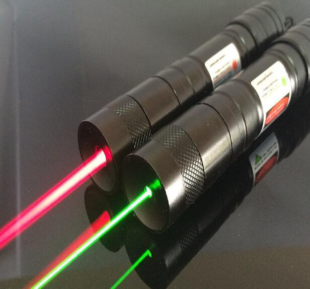 High Powered 650nM/532nm Aerometal Powerful Red/green Laser Pointer Pen Light Focus Lazer Visible Beam Range 10000m