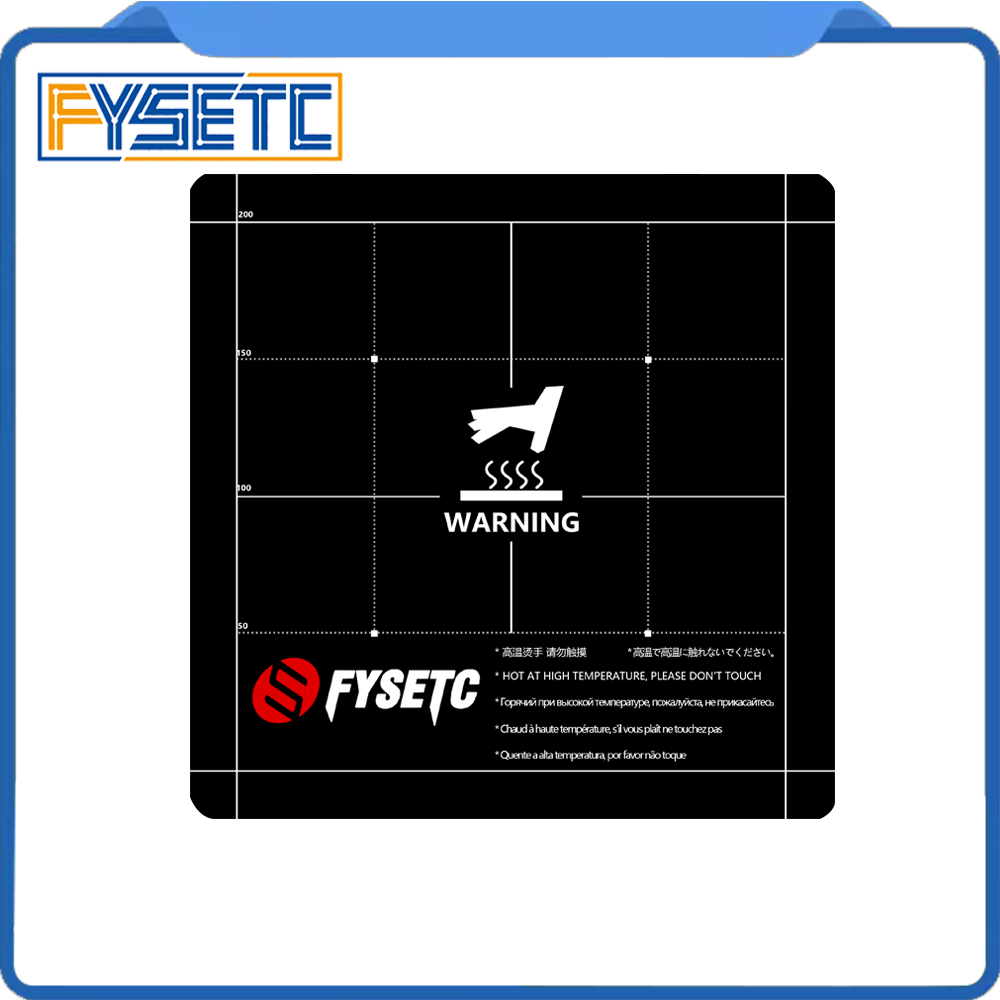 3D Printer Parts Heat Hot Bed Sticker 235x235mm Coordinate Printed Surface Build Sheet For Creality ENDER-3 /3s Tevo Flash