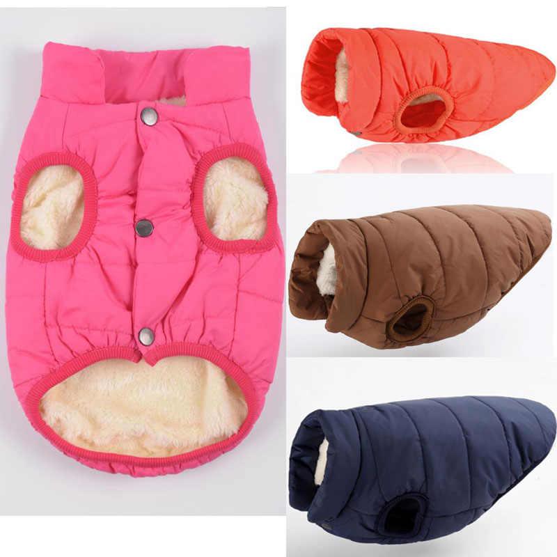 Warm Dog Coat Jacket Winter Thick Clothes For Small Medium Big Dog Samoyed  Schnauzer Labrador Dog Vest Costume Overalls Clothing