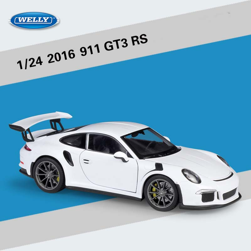 Welly 1:24 Scale 2016 911 GT3 RS Sports Car Alloy Diecast Metal Toy Racing Car For Kid Toys Gift Original Box Free Shipping