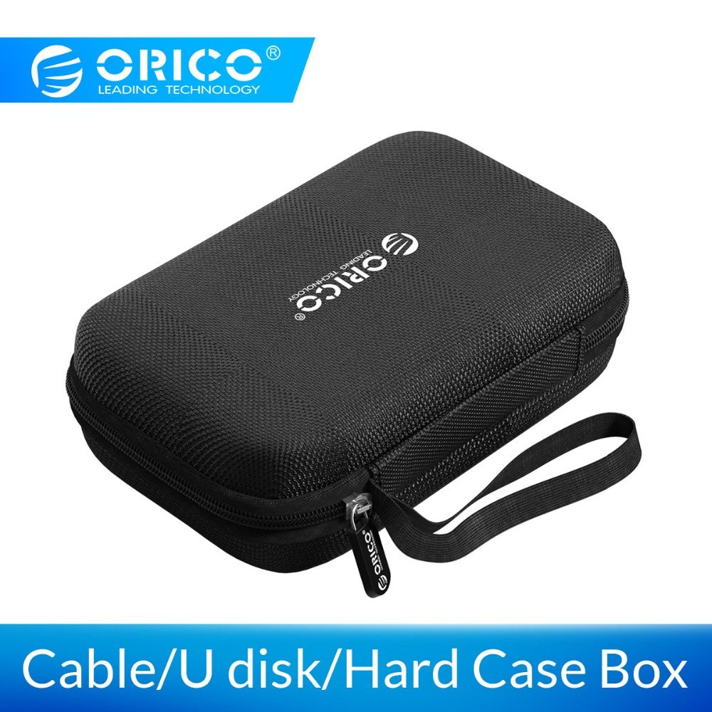 ORICO Hard Case Bag Power Bank Case For 2.5 Hard Drive U-Disk USB Cable External Storage Carrying SSD HDD Case Storage Box
