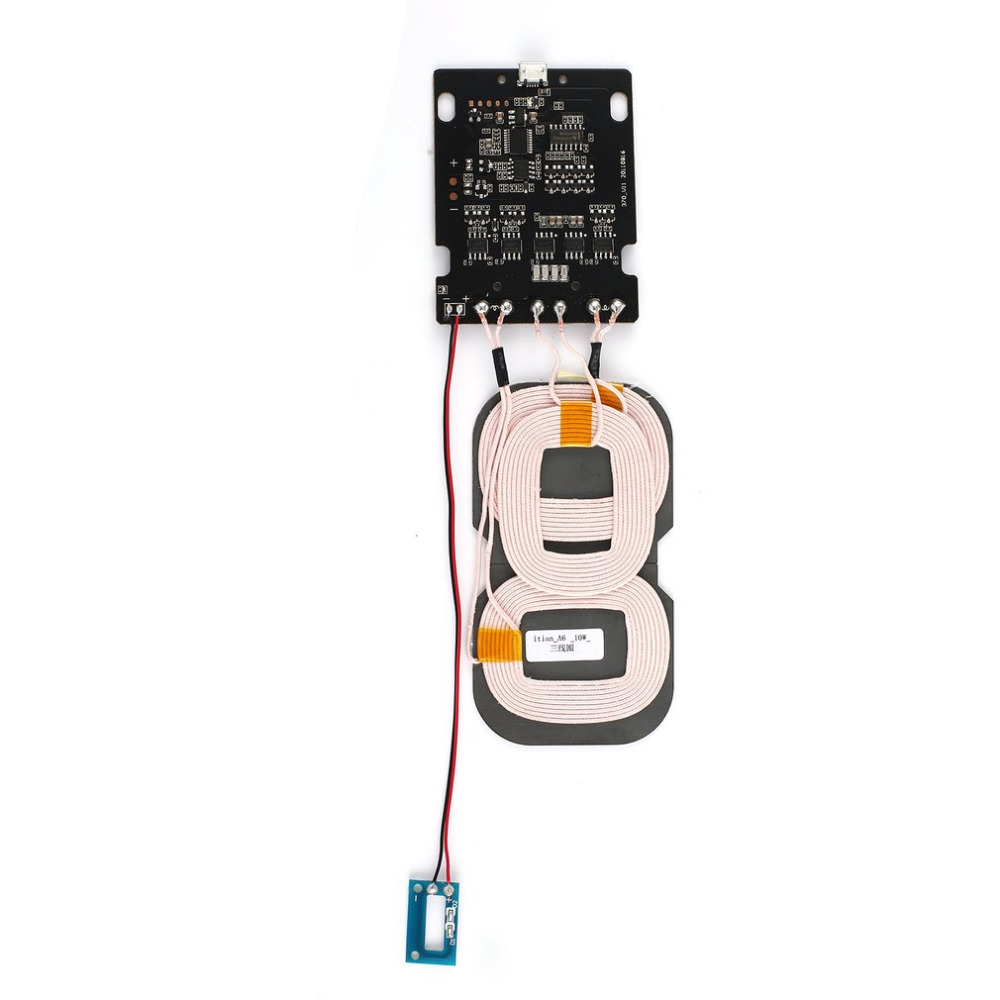 3 Coils Qi Wireless Charger Micro USB Portard Coil DIY Wireless Charging Accessories PCBA Circuit Board With Qi Stand Wholesale