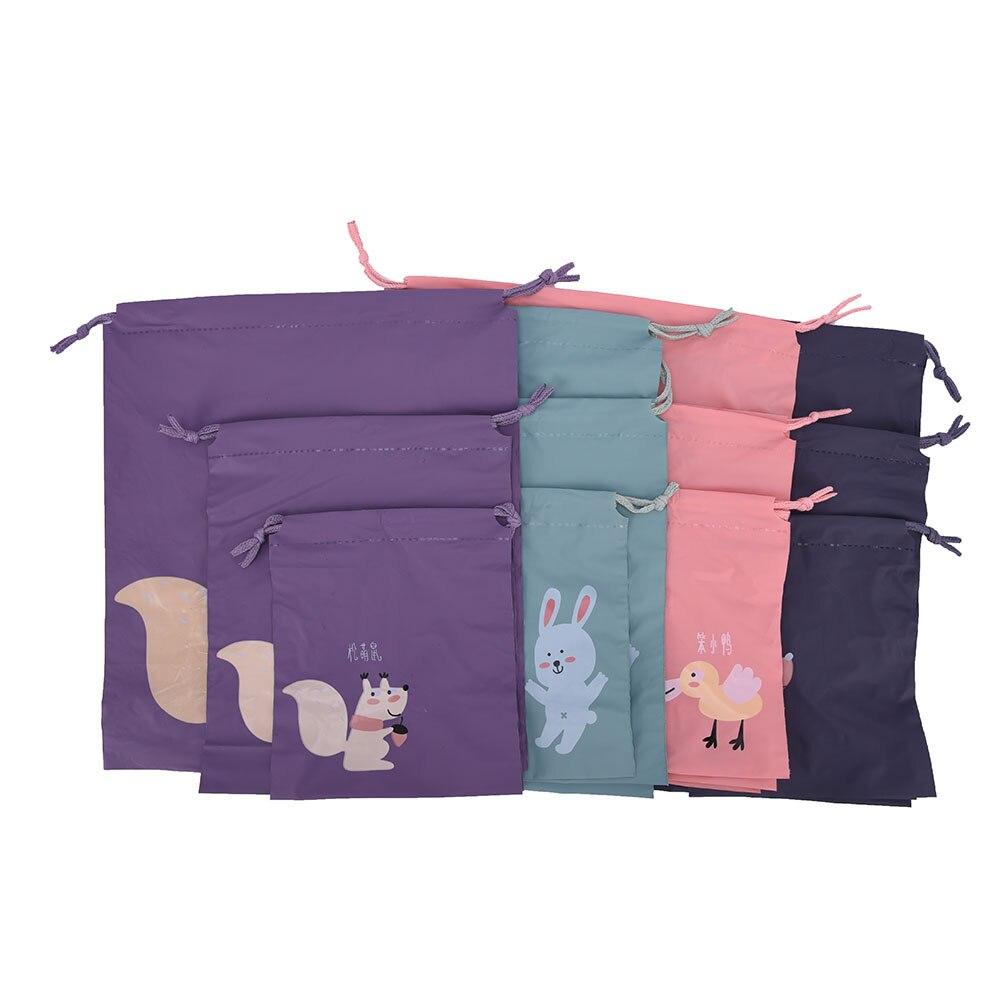 3Pcs/set Waterproof Bags Organizer For Clothe Shoes Underwear Socks 3 Size 4 Colors