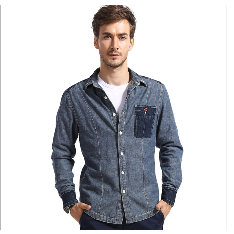 Online Get Cheap Men Black Denim Shirt -Aliexpress.com | Alibaba Group