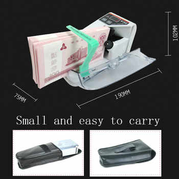 Mini Money Currency Counting Machine Handy Bill Cash Banknote Counter Money AC or Battery Powered for Fake Money Dollar EU US UK