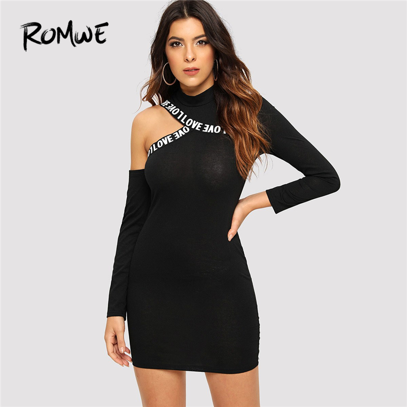 Black bodycon dress cut out of shirts back