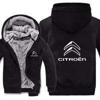 Mans Jacket Winter High Quality Men Casual Wool Liner Fleece Citroen Logo Sweatshirts Hoody Citroen Hoodies