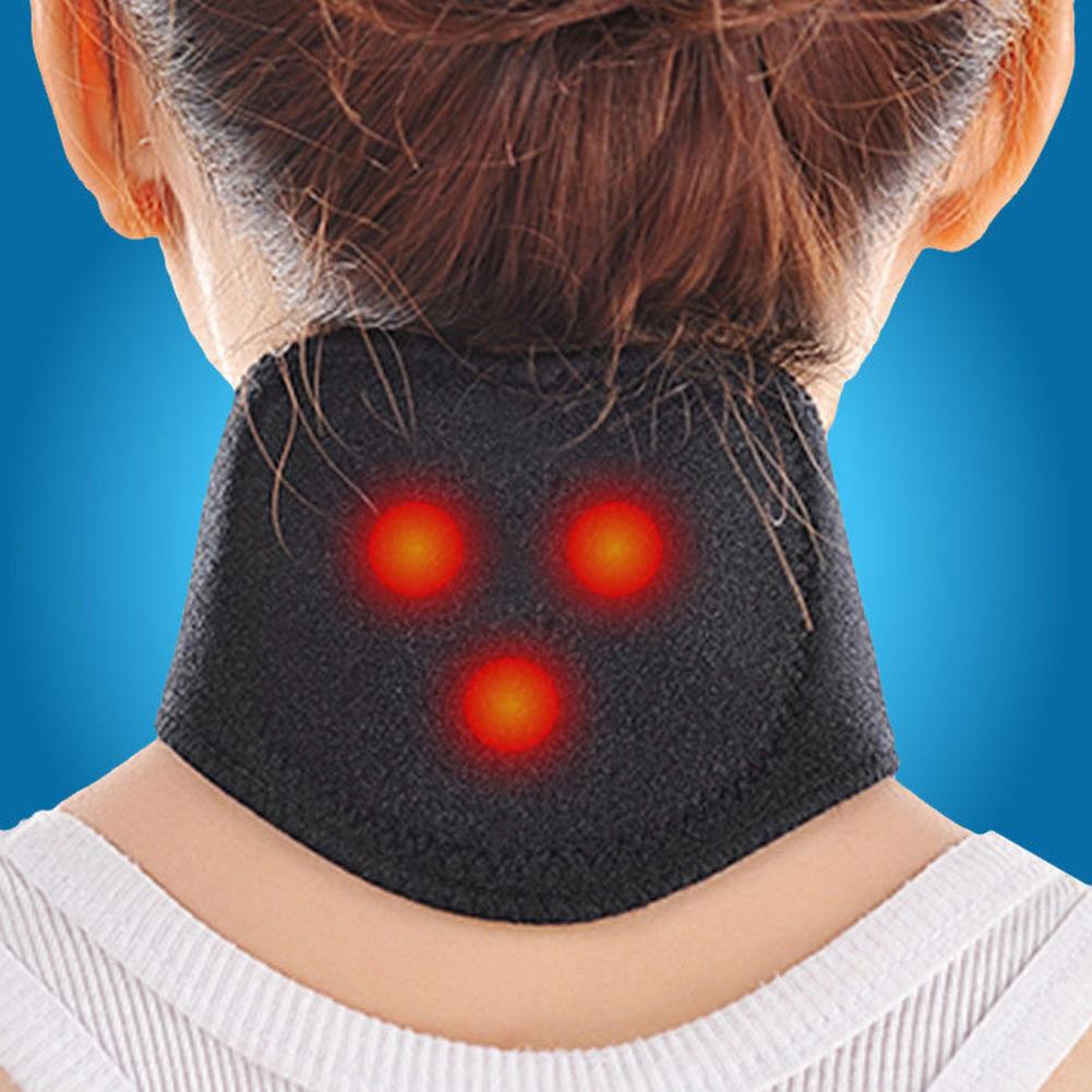 1Pc Magnetic Therapy Neck Brace Support Massager Protection Heating Belt Health Care Self-heating Neck Magnetic Therapy Belt