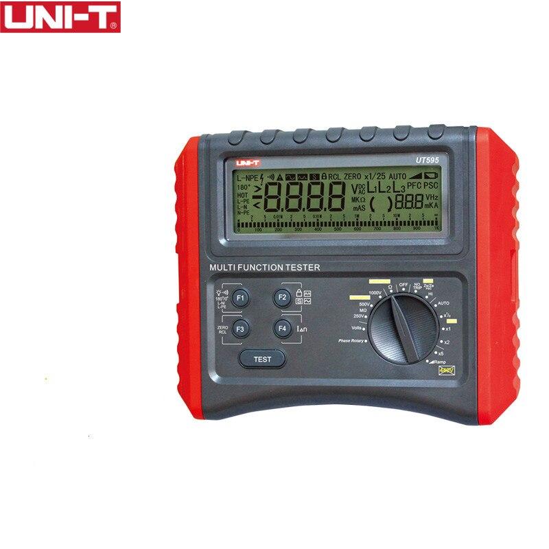 UNI-T UT595 Circuito Multifunction Linha Impedância de Loop de Terra Tester Medidor de Resistência de Isolamento Testers