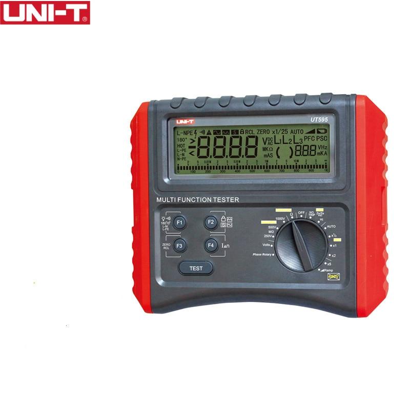UNI T UT595 Multifunction Loop Testers Earth Ground Line Loop Impedance Tester Insulation Resistance Meter
